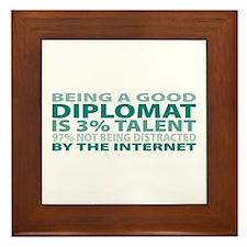 Good Diplomat Framed Tile