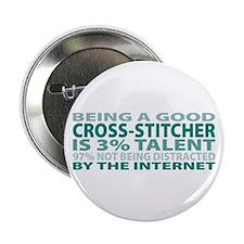 """Good Cross-stitcher 2.25"""" Button"""