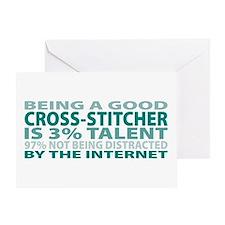 Good Cross-stitcher Greeting Card