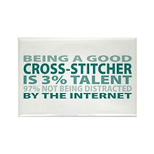 Good Cross-stitcher Rectangle Magnet