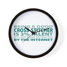 Good Cross-stitcher Wall Clock