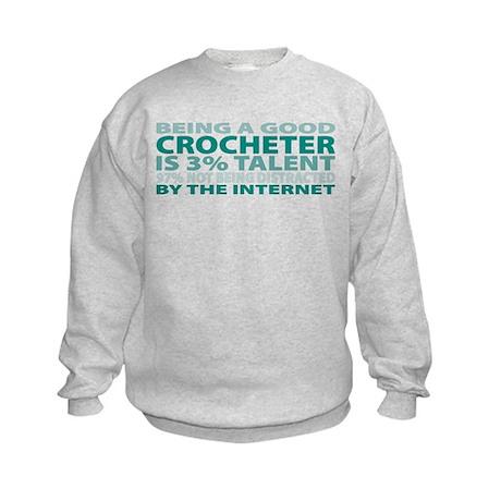 Good Crocheter Kids Sweatshirt