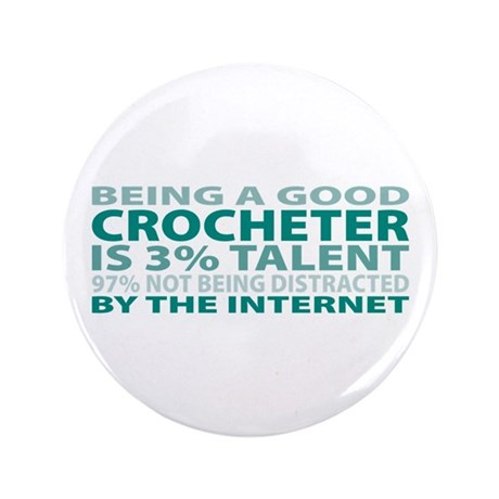 """Good Crocheter 3.5"""" Button (100 pack)"""