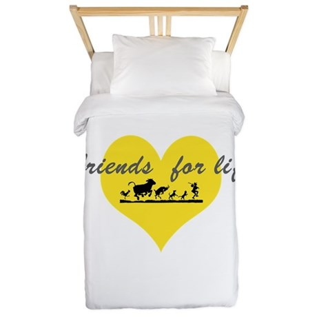 friends for life Twin Duvet Cover