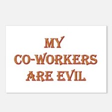 My Co-Workers Are Evil Postcards (Package of 8)
