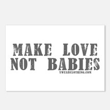 Make Love, Not Babies Postcards (Package of 8)