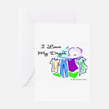 Clothesline Dryer Love Greeting Cards (Package of