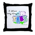 Clothesline Dryer Love Throw Pillow