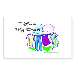 Clothesline Dryer Love Rectangle Decal