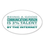 Good Communications Person Oval Sticker