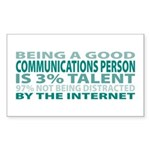 Good Communications Person Rectangle Sticker