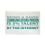 Good Communications Person Rectangle Magnet (100 p