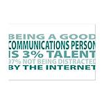 Good Communications Person Mini Poster Print