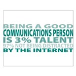 Good Communications Person Small Poster