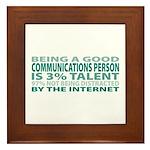 Good Communications Person Framed Tile