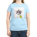 Monkey with Banana Women's Pink T-Shirt
