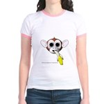 Monkey with Banana Jr. Ringer T-Shirt