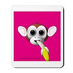 Monkey with Banana Mousepad