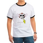 Monkey with Banana Ringer T