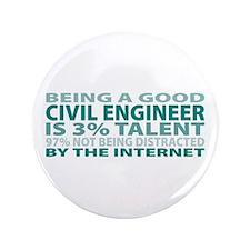 "Good Civil Engineer 3.5"" Button"