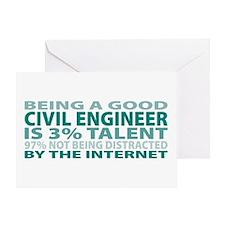 Good Civil Engineer Greeting Card