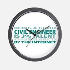 Good Civil Engineer Wall Clock