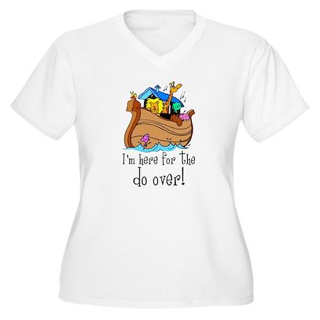 Do Over Women's Plus Size V-Neck T-Shirt