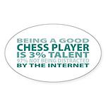 Good Chess Player Oval Sticker (50 pk)