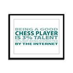 Good Chess Player Framed Panel Print