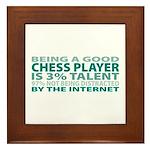 Good Chess Player Framed Tile
