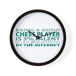 Good Chess Player Wall Clock