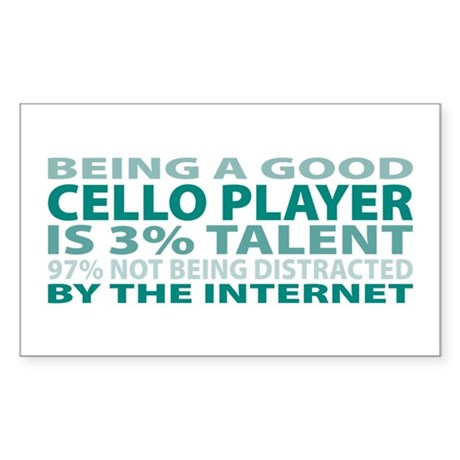 Good Cello Player Rectangle Sticker