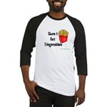 Sure I Eat Vegetables French Baseball Jersey