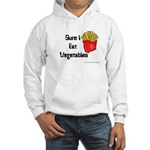 Sure I Eat Vegetables French Hooded Sweatshirt
