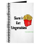 Sure I Eat Vegetables French Journal