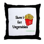 Sure I Eat Vegetables French Throw Pillow