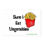 Sure I Eat Vegetables French Postcards (Package o