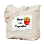Sure I Eat Vegetables French Tote Bag