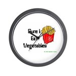 Sure I Eat Vegetables French Wall Clock