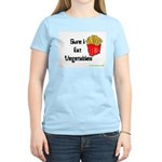 Sure I Eat Vegetables French Women's Pink T-Shirt