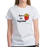 Sure I Eat Vegetables French Women's T-Shirt