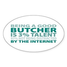 Good Butcher Oval Decal