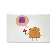 PBJ love - Rectangle Magnet