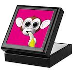 Monkey with Banana Keepsake Box