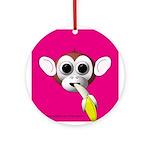 Monkey with Banana Keepsake (Round)