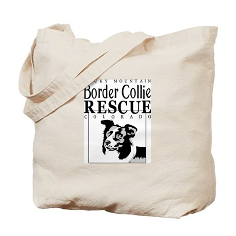 Rocky Mountain Border Collie Tote Bag