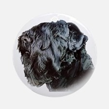 Black Russsian terrier Ornament (Round)