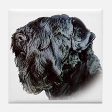 Black Russsian terrier Tile Coaster