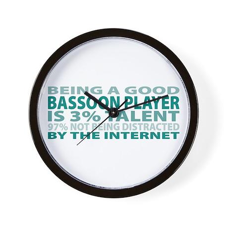 Good Bassoon Player Wall Clock