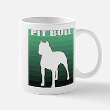 green pit bull retro design Mug